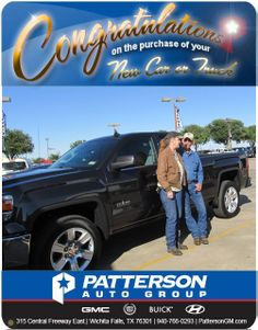 Jake, and Jamie are very happy with their new truck. They chose one of the new colors Iridium. They are very grateful to their sales consultant, Stella Yarbrough from GMC, Buick, and Cadillac for helping them find the perfect truck. Congratulation to Jake, and Jamie.