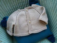 Le grand classique du top-down, pour un petit garçon* nouveau-né ... et une manière d'utiliser la douce laine...