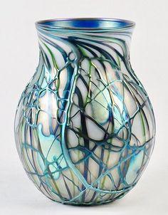 CHARLES LOTTON IRIDESCENT GLASS VASE