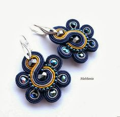 More Colors – More Fall / Winter Fashion Trends To Not Miss This Season. - Street Fashion, Casual Style, Latest Fashion Trends - Street Style and Casual Fashion Trends Soutache Necklace, Beaded Earrings, Beaded Jewelry, Handmade Jewelry, Diy Jewelry, Handmade Necklaces, Soutache Tutorial, Kanzashi, Felted Slippers