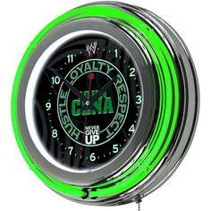 WWE John Cena Neon Clock - 14 inch Diameter