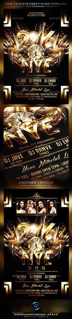 New Year Eve Or Classy Party In Club Classy, Font logo and Fonts - free new years eve flyer template