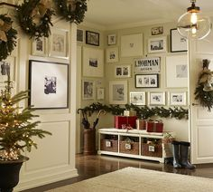 A gallery wall can continue through many spaces; don't let things like doorways or turns cut you off!