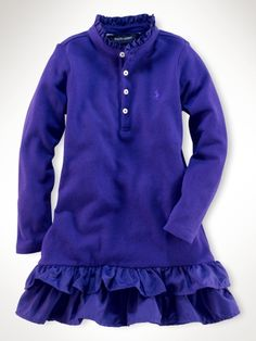 Ruffle polo dress for daughter!