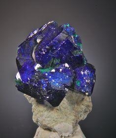 Azurite, Milpillas Mine, near Nacozari, Cuitaca, Municipio de Cananea Sonora, Mexico