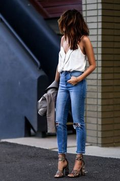 casual style womens fashion inspiration #style #vogue #overall #style #women #leathergoods #street