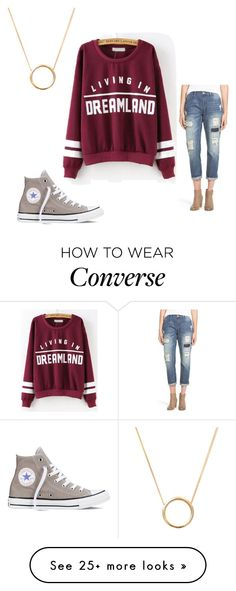 """lazy life¿(:"" by caraline-moore on Polyvore featuring moda, Converse, On Twelfth y Lee Renee"
