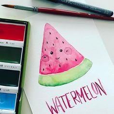 Watercolor watermelo
