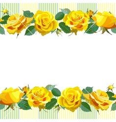 Floral background with yellow roses vector by sam2211 - Image ...
