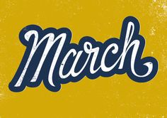 March lettering