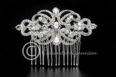 Wedding Hair Comb of Elegant Rhinestones and CZ from Cassandra Lynne