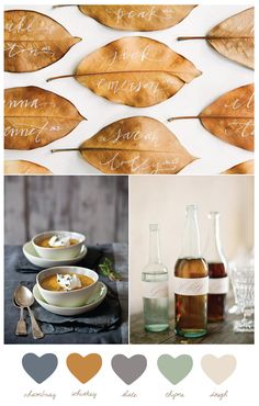 Whisky + chambray   Fall color palette from The Sweetest Occasion