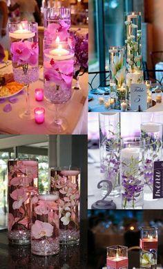 Efekt kwiatów i świec na stołach weselnych!