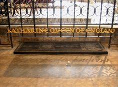 "On this day in Tudor history in 1536, ""The End (and beginning of the end) of Two Tudor Queens"" : http://www.beingbess.blogspot.com/2014/01/1536-end-of-two-tudor-queens.html IMAGE: Catherine of Aragon's grave at Peterborough Cathedral."