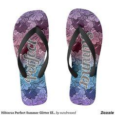 af21812104bac Hibiscus Perfect Summer Glitter Effect Best Flip Flops