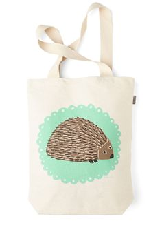 The Crowd Goes Wilderness Tote in Hedgehog. Backstage must-haves are convenient and organized with your signature shades and change of tights tucked in this cotton tote bag. #multi #modcloth