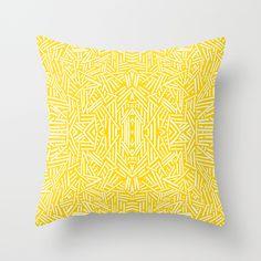 Radiate - Freesia Throw Pillow by Jacqueline Maldonado - $20.00