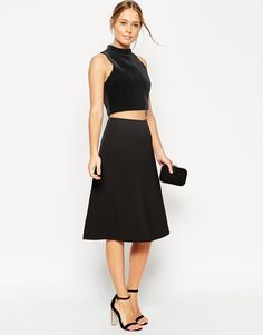 ASOS Midi Skirt In Scuba Fabric