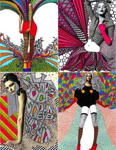 ☯☮ॐ American Hippie Bohemian Psychedelic Art ~ fashion illustration