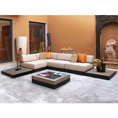 Zen 7-piece Outdoor Seating Set | Overstock.com Shopping - Big Discounts on Sofas, Chairs & Sectionals Zen Deck