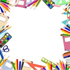 Stationery border PNG and Clipart Page Boarders, Boarders And Frames, Frame Border Design, Boarder Designs, School Binder Covers, School Border, School Frame, Powerpoint Background Design, Kids Background