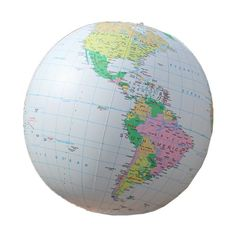 "Replogle Inflatable Globe, Political Globe, Light Blue, 27"", 2015 Amazon Top Rated Geography #Toy"