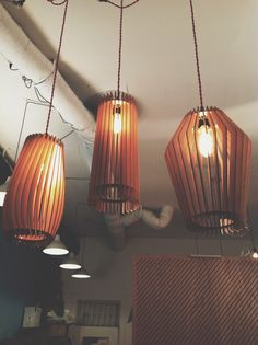 5 Points Gladys, Mildred & Larry laser cut birch wooden lamps #weare5points #lamp