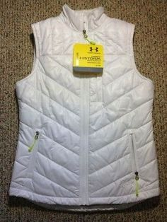 Womens UNDER ARMOUR COLD GEAR STORM Water Resistant Puffer Ski Vest Small S NWT