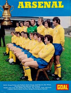 English Leagues the Arsenal The Double Year 1970 1971 Arsenal Goal, Arsenal Players, Arsenal Football, Football Art, Sport Football, Soccer, English Football Teams, British Football, Charlie George