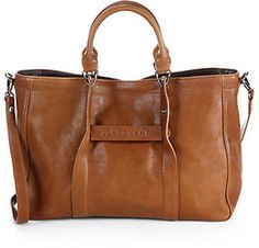 Longchamp Small Leather Tote Bag on shopstyle.com