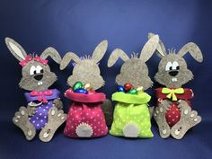 Bunny bags for Easter, great handicraft fun and well filled a great Easter gift . - Bunny bags for Easter, great handicraft fun and well filled a great Easter gift - Easter Gift, Easter Crafts, Easter Bunny, Bunny Bags, Easter Quotes, Flower Crafts, Easter Baskets, Handicraft, Chocolates