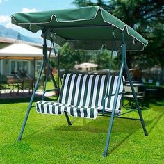 World-Pride-2-Seater-Green-Outdoor-Patio-Garden-Swing-Cushioned-Canopy-Furniture