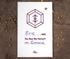 Will You Bee My Honey? | Printable Valentine's Day Cards