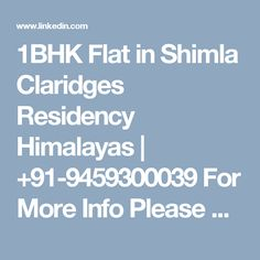 1BHK Flat in Shimla Claridges Residency Himalayas | +91-9459300039 For More Info Please Visit Our Site :-http://rajdeepandcompany.com/claridges_residency2.php