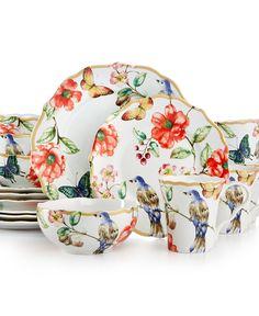 Overstock.com - 222 Fifth Lutece Square 16-piece Dinnerware Set ...