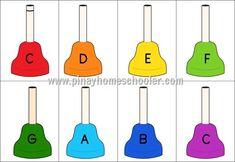 The Pinay Homeschooler: FREE Musical Hand Bell Cards Preschool Music, Music Activities, Teaching Music, Leadership Activities, Group Activities, Music Math, Primary Songs, Primary Chorister, Elementary Music