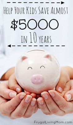 This article has 4 awesome tips for helping your kids learn to save their money.  Plus, I love the easy way you can show them how they could have $5000 just by putting a little of their allowance aside.  Must pin!