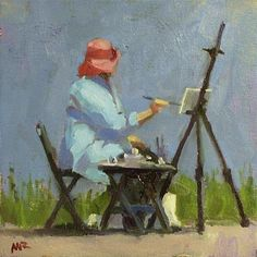 Mom loves to paint, but she prefers by-number.  More relaxing.