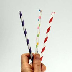DIY pixie sticks. You could make these SO pretty and matchy matchy for a kid's party!