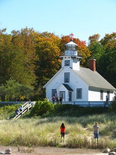 The Mission Point Lighthouse on the Old Mission Peninsula.