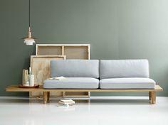 2 seater fabric sofa PLANK SOFA by dk3   design Berg Knudsen Hindenes, Mhyr