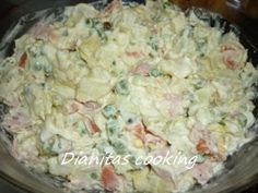 dianitas cooking: Ρώσικη Σαλάτα 8 Υλικά!!!! Food Network Recipes, Food Processor Recipes, Cooking Recipes, Greek Recipes, Desert Recipes, The Kitchen Food Network, Salad Bar, Appetizer Dips, Snacks