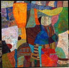 Giant Abstract heavy textured vibrant colors painting Kara Michael Freeman https://www.flickr.com/photos/135452704@N08/