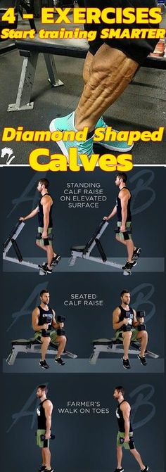 Here are the 4 best exercises for your calves.Your calf muscles pull off your entire body weight. So it becomes essential that you take good care of them. Give your legs a face-lift with this calf-carving workout. Don't just leave the gym after your last Fitness Workouts, Fitness Tips, Wellness Fitness, Best Calf Exercises, Weight Exercises, Exercises For Calves, Calf Workouts, Lifting Workouts, Farmers Walk