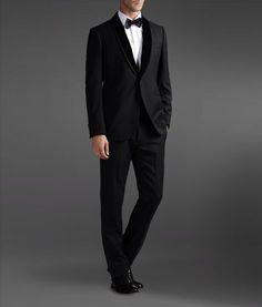 Armani One Button Black Suit