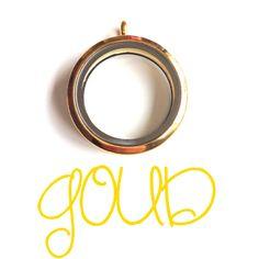 Ketting met magnetisch 'floating' medaillon - Goud