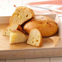Garlic Asiago Bread Recipe -My friends and family rave about this recipe. It has chunks of cheese and fabulous garlic taste. We have bread sales at our school as a fundraiser and this is always one of the top sellers.—Charlotte Thomas, Pollock Pines, California