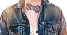 I want a linen bow tie.  Not so sure about the cardigan layer though.