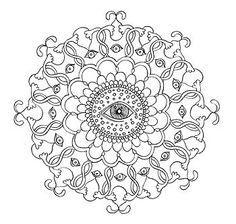 Mandala Coloring Pages 23 Printable PDF Blank Mandala by thaneeya