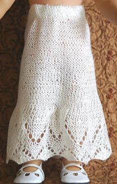 Knit pattern for american girl doll petticoat skirt
